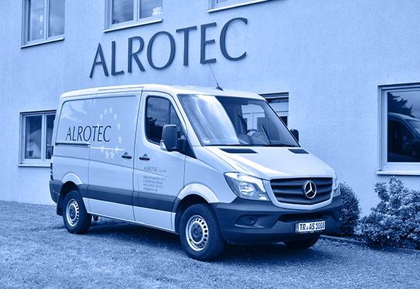 ALROTEC-Lieferwagen für zuverlässigen Versand