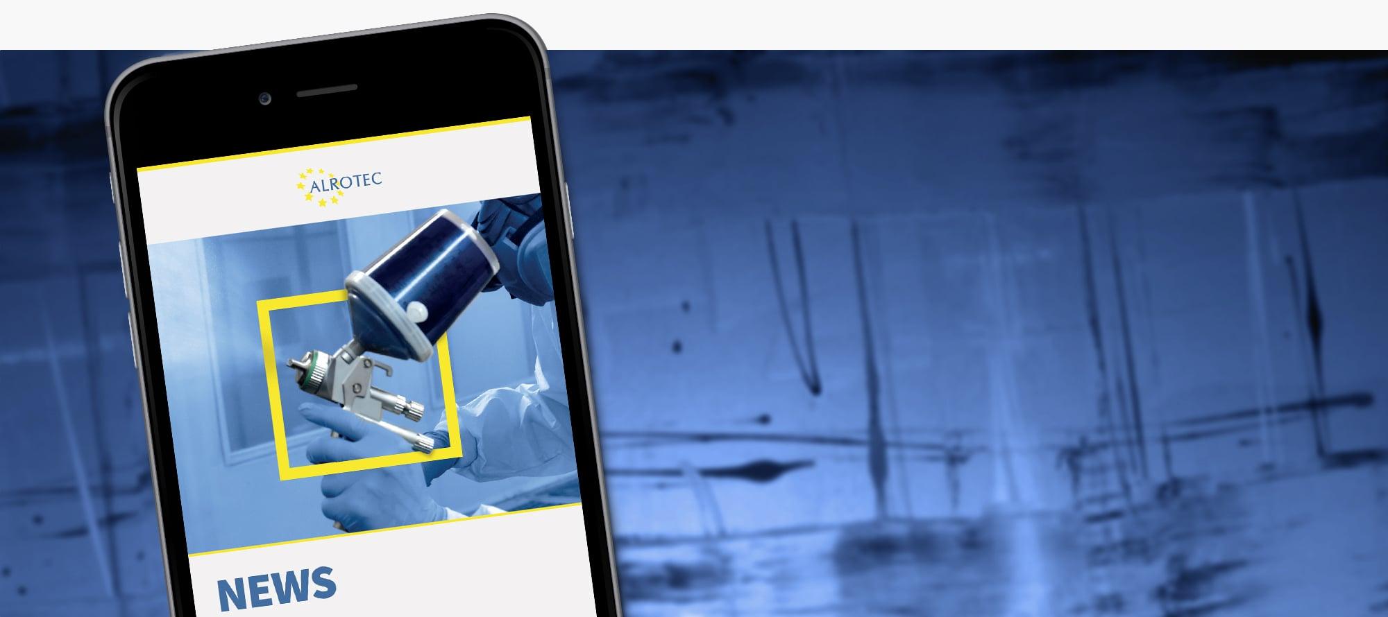 ALROTEC-News auf einem Smartphone